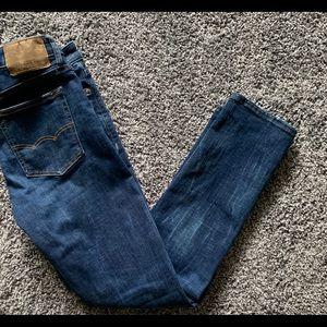 Men's American Eagle  dark wash jeans.
